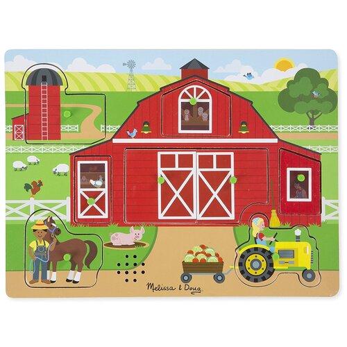 Купить Рамка-вкладыш Melissa & Doug Вокруг фермы (42800M), 7 дет., Пазлы