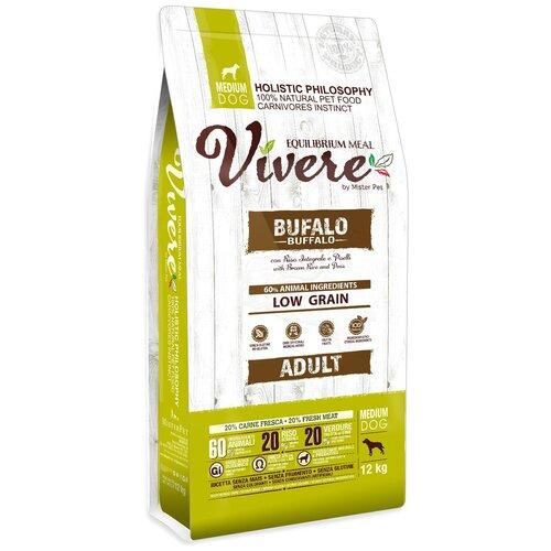 Фото - Сухой корм для собак Vivere буйвол 12 кг (для средних пород) сухой корм для собак vivere ягненок 3 кг для средних пород