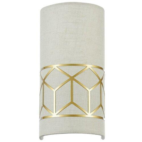 Настенный светильник MAYTONI Messina H223-WL-01-G, E14, 40 Вт, кол-во ламп: 1 шт., цвет арматуры: золотой, цвет плафона: бежевый настенный светильник maytoni h223 wl 02 g
