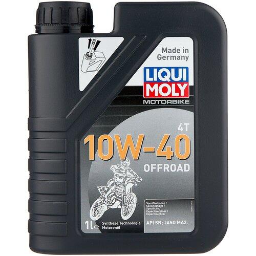Полусинтетическое моторное масло LIQUI MOLY Motorbike 4T Offroad 10W-40 1 л моторное масло liqui moly motorbike 4t synth offroad race 10w 60 1 л