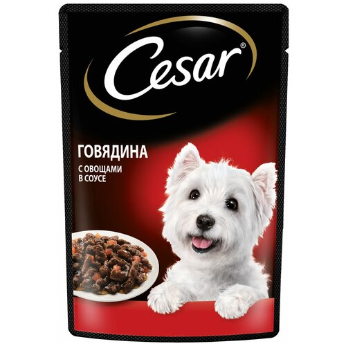 Фото - Влажный корм для взрослых собак Cesar с говядиной и овощами в соусе 85 г корм для собак cesar курица с зелеными овощами 100 г