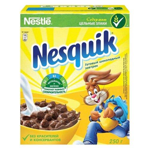 Фото - Готовый завтрак Nesquik шоколадные шарики, коробка, 250 г готовый завтрак tsakiris family лепестки шоколадные коробка 250 г