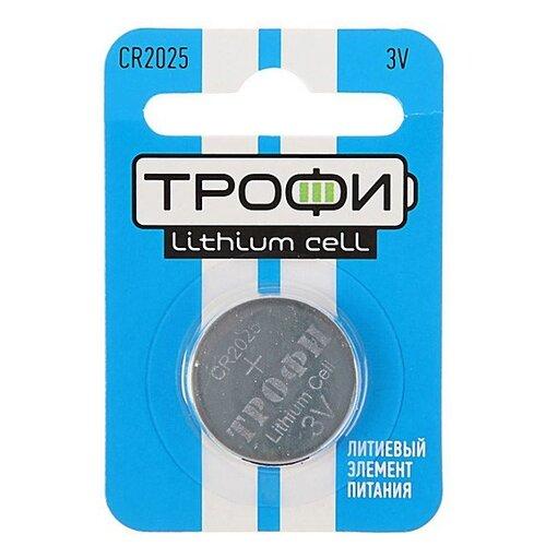 Фото - Батарейка ТРОФИ CR2025, 1 шт. батарейка трофи cr1616 1 шт
