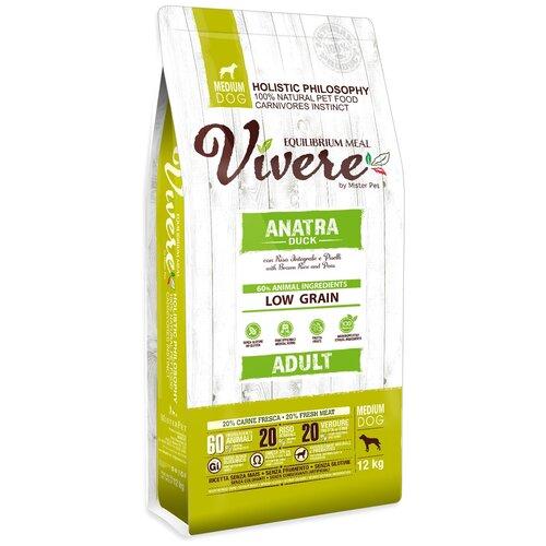 Фото - Сухой корм для собак Vivere утка 12 кг (для средних пород) сухой корм для собак vivere ягненок 3 кг для средних пород
