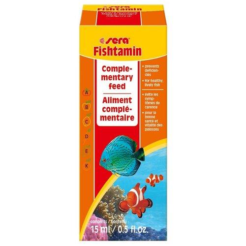 Витамины и добавки для рыб Sera Fishtamin, 15 мл