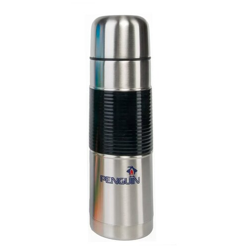 Классический термос Penguin BK-36, 1 л стальной/черный