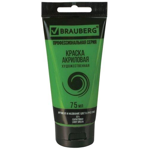 BRAUBERG Краска акриловая художественная Classic (профессиональная серия) 75 мл салатовая