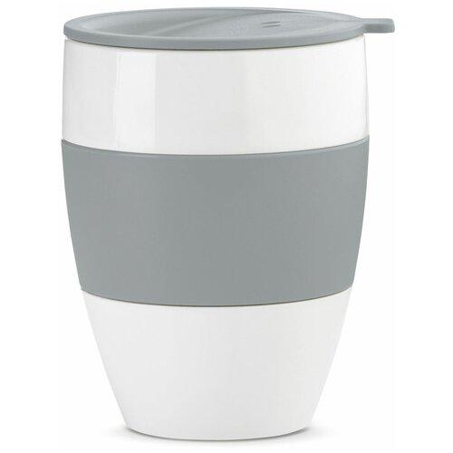 Термокружка Koziol Aroma to go 2.0, 0.4 л белый/серый