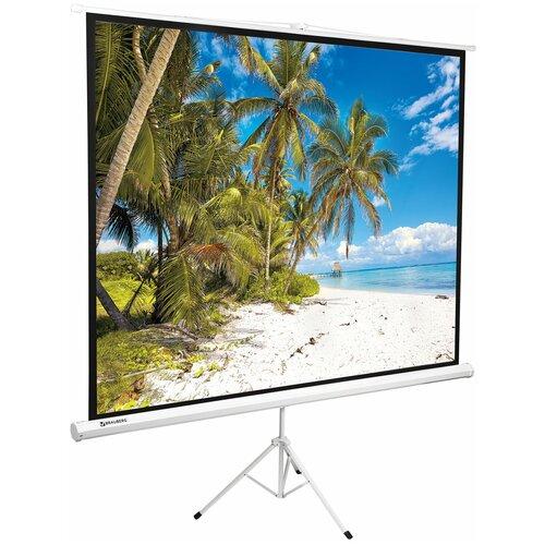Фото - Рулонный матовый белый экран BRAUBERG Tripod 236732 brauberg l65 531352