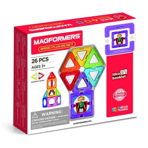 Купить Конструктор Magformers Basic Plus 715014-26-Д Девочка, Конструкторы