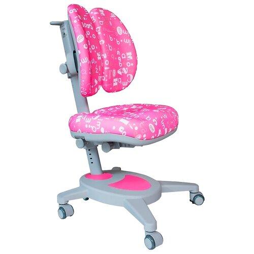 Компьютерное кресло MEALUX Onyx Duo детское, обивка: текстиль, цвет: розовый с буквами компьютерное кресло rifforma comfort 32 с чехлом детское обивка текстиль цвет розовый