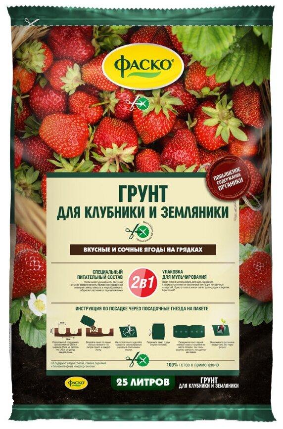 Грунт ФАСКО для клубники и земляники 25 л. — купить по выгодной цене на Яндекс.Маркете в Москве