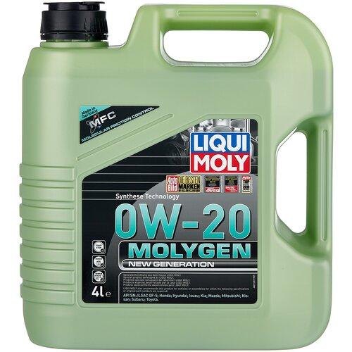 Фото - Синтетическое моторное масло LIQUI MOLY Molygen New Generation 0W-20, 4 л моторное масло liqui moly molygen new generation 10w 40 4 л