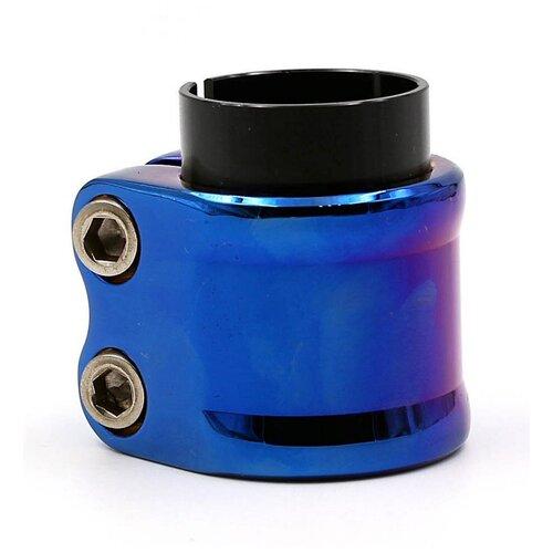 Хомут для самоката LDR HIC/IHC 02 синий хром 2 болтовый