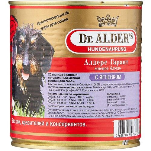 Фото - Влажный корм для собак Dr. Alder`s ягненок 750 г влажный корм для собак dr alder s ягненок 12 шт х 750 г
