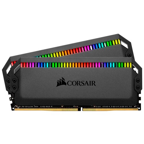 Оперативная память Corsair Dominator Platinum RGB 16GB (8GBx2) DDR4 3200MHz DIMM 288-pin CL16 CMT16GX4M2C3200C16 память оперативная ddr4 corsair 16gb 3200mhz cm4x16gc3200c16w2e
