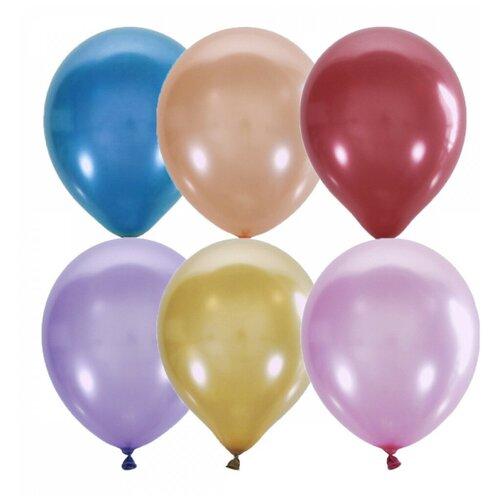 Набор воздушных шаров МФ ПОИСК Металлик и перламутр (100 шт.) набор воздушных шаров miraculous металлик 100 шт синий