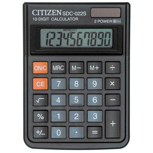 Калькулятор CITIZEN SDC-022S черный