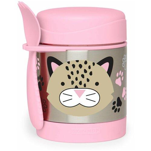 Термос для еды SKIP HOP Zoo Leopard, 0.325 л розовый