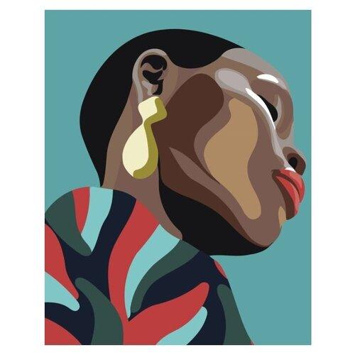 Купить Картина по номерам Живопись по Номерам Чернокожая девушка с сережкой , 40x50 см, Живопись по номерам, Картины по номерам и контурам