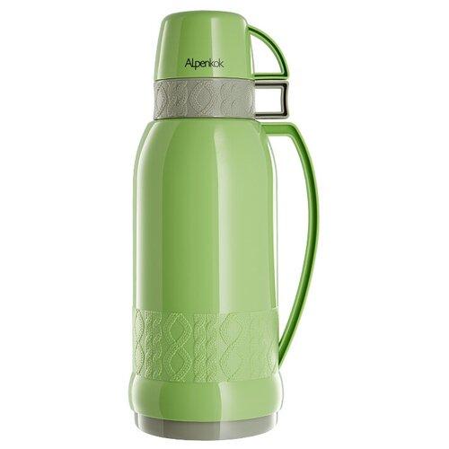 Классический термос Alpenkok с узкой горловиной, 1.8 л зеленый глянцевый