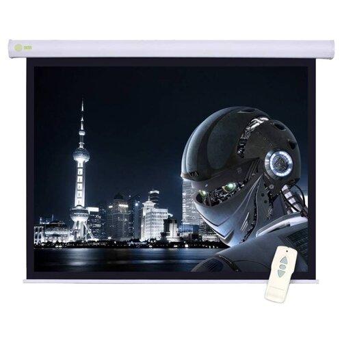 Рулонный матовый белый экран cactus Motoscreen CS-PSM-124x221