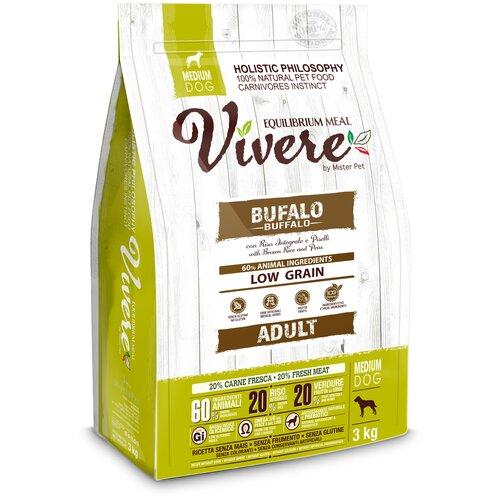 Фото - Сухой корм для собак Vivere буйвол 3 кг (для средних пород) сухой корм для собак vivere ягненок 3 кг для средних пород