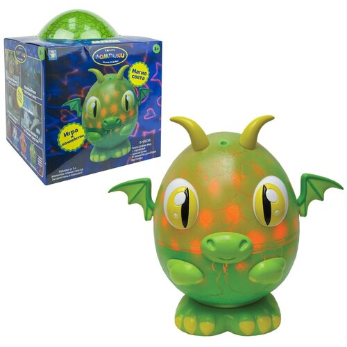 Фото - Ночник 1 TOY Лампики Дракон Т16359 (коробка), цвет арматуры: зеленый, цвет плафона: разноцветный ночник 1 toy лампики попугай т16360 коробка