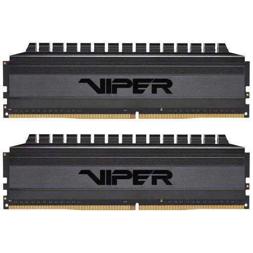 Фото - Оперативная память Patriot Memory VIPER 4 BLACKOUT 16GB (8GBx2) DDR4 3200MHz DIMM 288-pin CL16 PVB416G320C6K оперативная память patriot memory viper rgb 16gb 8gbx2 ddr4 4133mhz dimm 288 pin cl19 pvr416g413c9k