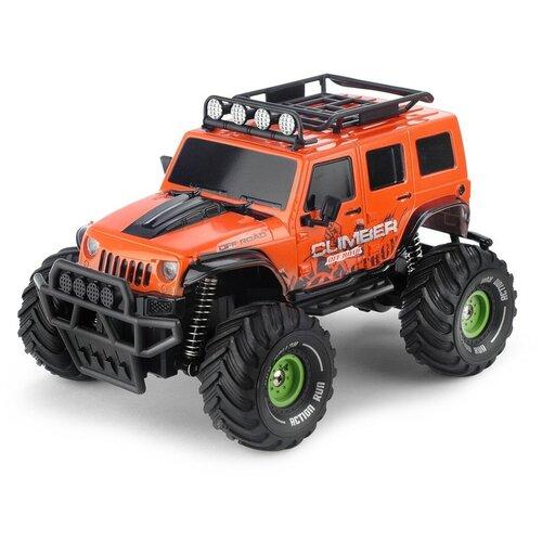 Купить Детская игрушка Yako toys Машина на радиоуправлении Jeep оранжевый, машина на радиоуправлении, радиоуправляемая, игрушечная, 1:18; 2, 4G, с зарядным устройством, Радиоуправляемые игрушки