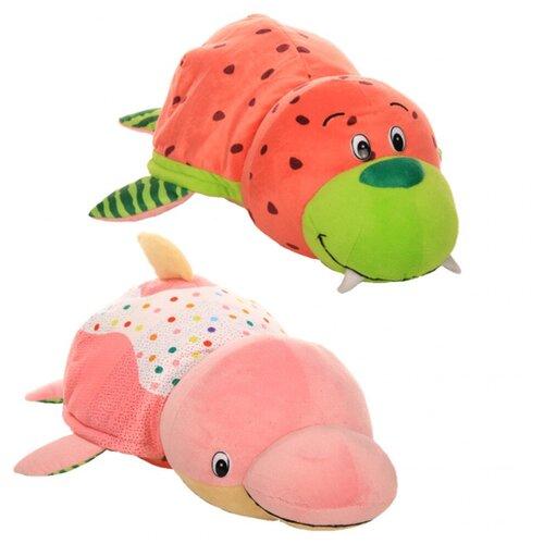 Мягкая игрушка 1 TOY Вывернушка Ням-Ням Морж-Дельфин с ароматом 35 см
