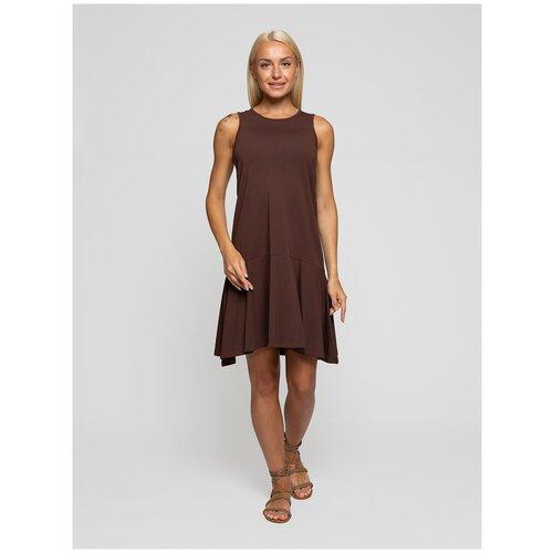 Женское легкое платье сарафан, Lunarable коричневое, размер 44