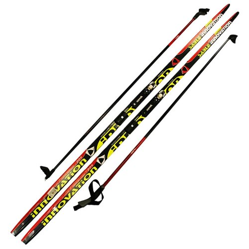 Лыжный комплект (лыжи + палки + крепления) NNN 205 СТЕП Step-in, Sable innovation