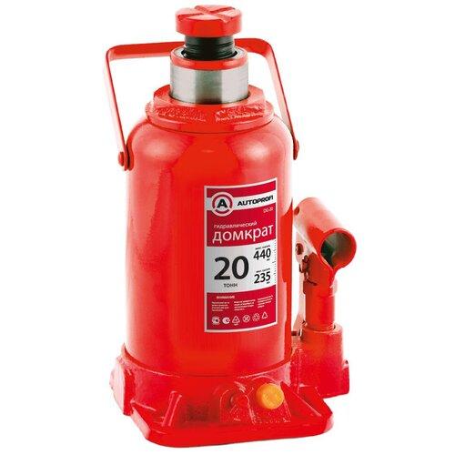 Фото - Домкрат бутылочный гидравлический AUTOPROFI DG-20 (20 т) красный аксессуары для автомобиля autoprofi домкрат бутылочный гидравлический 2 тонны dg 02k