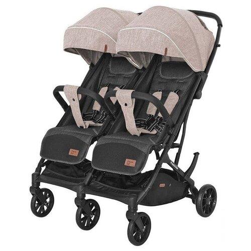 Купить Прогулочная коляска для двойни CARRELLO Presto Duo CRL-5506, steam beige, Коляски
