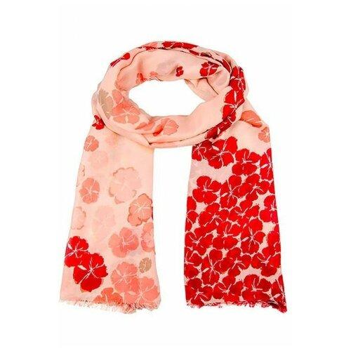 Палантин Vip collection SG2208 100% вискоза розовый/красный