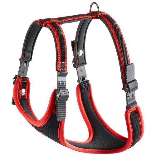 Шлейка Ferplast Ergocomfort P XS, обхват шеи 28-38 см, красный