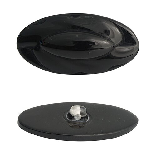 Купить Б22 Пуговица (3.01-338-45) (черный), 12 шт, Astra & Craft, Пуговицы