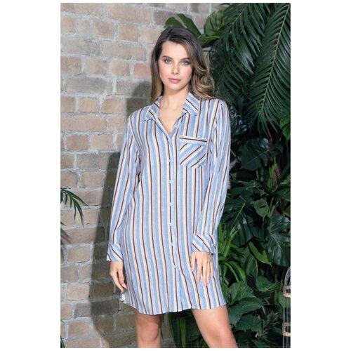 Платье Mia-Mia, размер XXXL(54), голубой сорочка mia mia размер xxxl 54 белый голубой