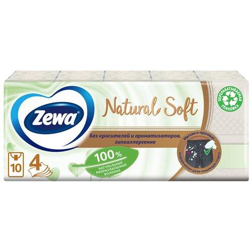 Платочки Zewa Natural Soft, 9 шт., 10 пачек