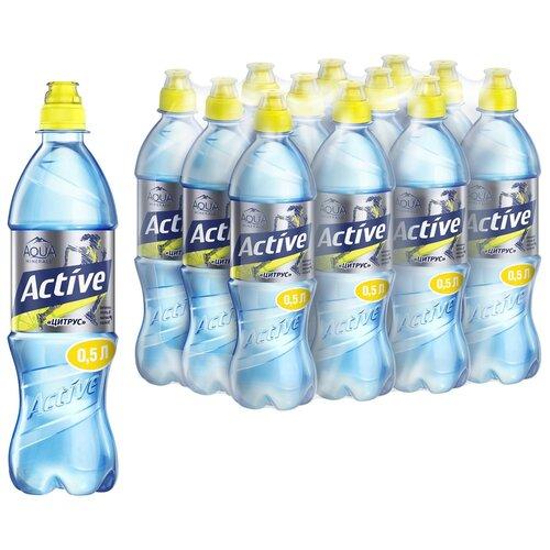 Фото - Вода питьевая Aqua Minerale Active негазированная Цитрус, спорт ПЭТ, 12 шт. по 0.5 л вода питьевая aqua minerale негазированная 2 л