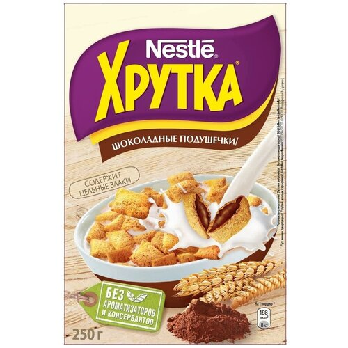 Фото - Готовый завтрак Хрутка Шоколадные подушечки, коробка, 250 г готовый завтрак tsakiris family лепестки шоколадные коробка 250 г