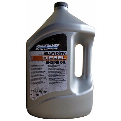 Минеральное моторное масло Quicksilver Heavy Duty Diesel 15W-40, 4 л