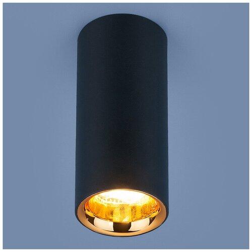 Спот Elektrostandard DLR030 12W 4200K черный матовый/золото