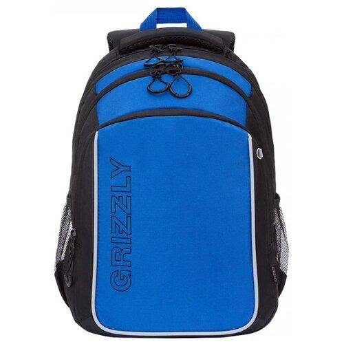 Купить Grizzly Рюкзак (RB-152-1), черный/синий, Рюкзаки, ранцы