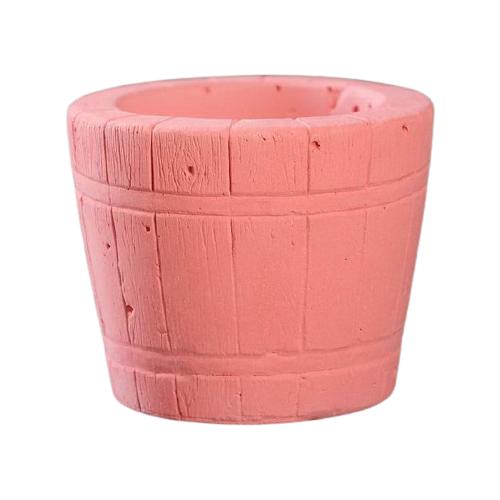 Кашпо Хорошие сувениры Ведерко 8 х 8 х 7 см розовый