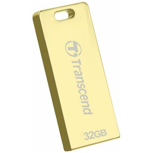 Фото - Флешка Transcend JetFlash T3G 32 GB, золотой флешка transcend jetflash 820g 64 gb золотой