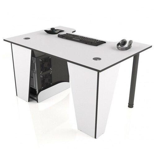 Игровой стол MaDXRacer XGAMER BASIC, ШхГ: 140х80 см, цвет: белый с черной кромкой