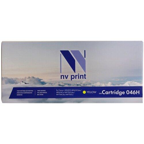 Фото - Картридж NV Print 046H Yellow для Canon, совместимый картридж aquamarine 046h m совместимый с картриджем canon 046h m