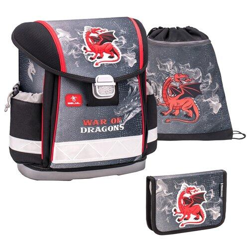 Купить Ранец Belmil Classy - War Of Dragons, Дракон, черный, с наполнением, Рюкзаки, ранцы